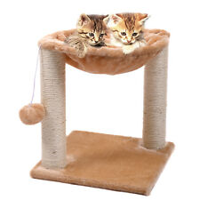 Cat Tree Hammock Scratch Post House Net Bed Furniture for Play with Toy Beige