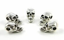 20 Large Metal Skull Beads For Paracord & Leather Bracelets Lanyards US Seller