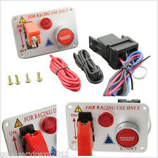 Silver Surface Racing Car Ignition Switch Panel Engine Start Push Button Toggle