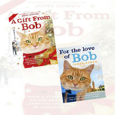 James Bowen 2 Book Set,A Gift from Bob: How a Street Cat,For the Love of Bob UK