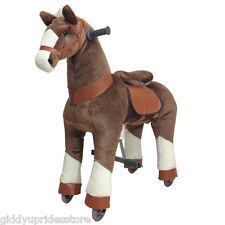 Brown Ride-on Giddy Up Horse / Pony Rides. For boys & girls 4-10 yrs (02F)
