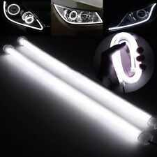 2X 60cm LED Car DRL Daytime Running Fog Strip Lamp Flexible Soft Tube Headlight
