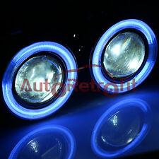 Blue CCFL Halo+8000K HID Xenon Universal Fit Fog Light Projector Lens/Fog Lamp