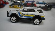 2015 Matchbox White Ford Explorer Police Truck Hot Wheels Custom Real Riders