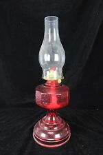 Vintage P & A Red Large Footed Oil Lamp