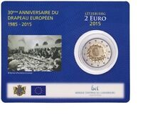 "Luxemburg 2 euro ""Europese vlag"" 2015 BU Coincard Commemorative - In Stock!"