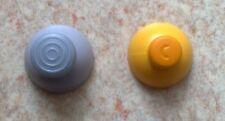 2 Stick Analogique de Remplacement pour manette Gamecube - Joystick gris + jaune