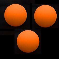3 x LED Juggling Ball - Orange - Pro 70mm Glow Juggling Balls - Incl Batteries