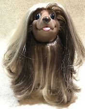 "Hasbro Sweetie Pups Afghan Hound Dog 1989 Blonde Brown 8"" Large Size Brushable"