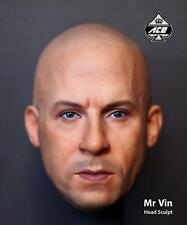 Custom 1/6 Scale Ace Toyz Vin Diesel Head Sculpt For Muscular Body