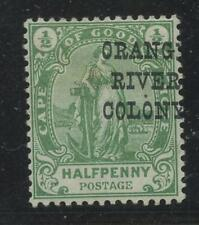 CAPE of GOOD HOPE ERROR 1900 QV 1/2d...MISPLACED OVERPRINT ORANG RIVER VARIETY
