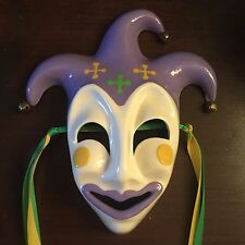 �� Ceramic Mardi Gras Mask, New Orleans, Purple, Green, Gold