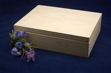 Plain Wooden Tea Box with 12 Compartments Perfect for Decoupage