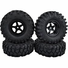 105mm Tyres RC 1:10 Off-Road Car Beach Rock Crawler Tires 9mm Offset Wheels Rims