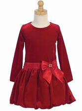 New Flower Girl Red Velvet Dress Size 6 Pageant Wedding Holidays Christmas Party