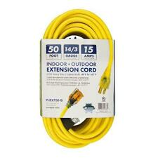 Snow Joe PJEXT50 14 Gauge 50 Ft Low Temp Extension Cord with Lighted End