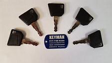 (5) Keys Fit Bomag Cat Dynapac Ford Hamm JCB New Holland Terex Vibromax 14607 N1