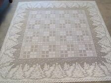 New White lace Winters Eve design Tablecloth 60 x 60