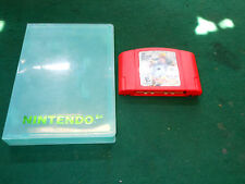 NFL QB Club 2001 Red Cartridge (Nintendo 64, 2000, N64) Cartridge  w' clear Case