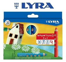 LYRA GROOVE TRIPLE 1 - PENCIL / CRAYON / WATER SOLUBLE - ALL IN ONE- 12 COLOURS