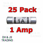 25x 1a Domestic Fuses Plug Top Household Mains 1amp Cartridge Fuse