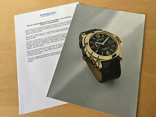 Press Kit PANERAI Luminor Marina Oro 2002 - Picture + Details Watch NOT Included