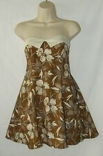 Motel Vintage Floral 50's Style  Rockabilly Lindyhop Strapless Dress Size 8 NWT