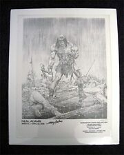NEAL ADAMS SIGNED GALLERY POSTER SAVAGE (CONAN)