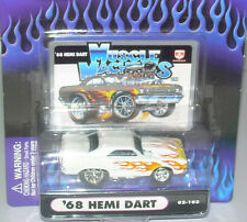 Muscle Machines 1/64 '68 Dodge Hemi Dart White with Flames 2002 02-103