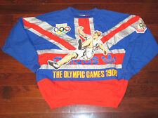ADIDAS Vtg 80s 90s Pull Over LONDON OLYMPIC GAMES 1908 soccer Sweater jacket LXL