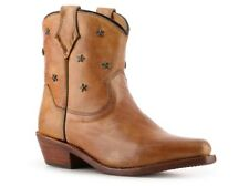 Bed Stu Women's Star Western Tan Leather Bootie Ankle Boot size 8.5 ns11/12