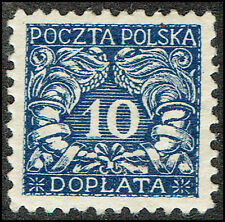 Scott # J25 - 1919 - ' Numerals of value ', For Southern Poland