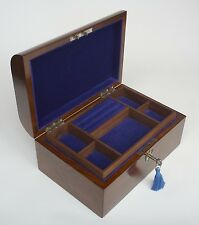 Edwardian Domed Walnut & Brass Jewellery Box