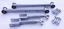 1978-1988 G Body Tubular Lower and Adjustable Upper Control Arms Hardware SILVER