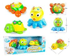 BABY TODDLER TOYS TURTLE CRAB OCTOPUS LIGHT PROJECTOR & MUSICAL SOUNDS 65159