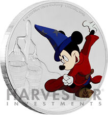DISNEY MICKEY THROUGH THE AGES - FANTASIA - 1 OZ. SILVER COIN - 4TH IN SERIES