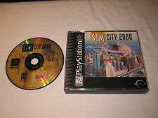 SIM City 2000 (PlayStation PS1) SIMCity Black Label Game in Case Vr Nice!