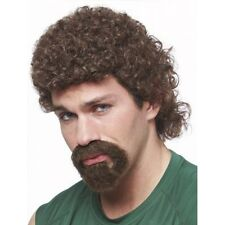 80'S CURLY AFRO MULLET KENNY POWERS EASTBOUND DOWN COSTUME WIG & GOATEE BEARD