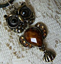 DANGLING --  OWL  ~  NECKLACE  ---- (GREAT_CHRISTMAS_GIFT)