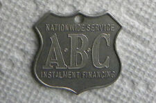 1935-1960 ABC Nationwide Installment Finance, Bank Loan Financing,Keychain,Medal