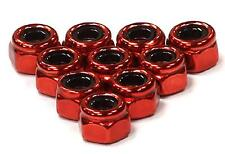 Integy Red Color Un-Flanged Lock Nut (10) 4mm Size HPI Losi Traxxas Kyosho