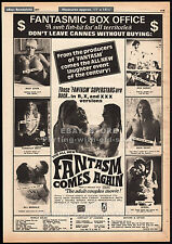 FANTASM COMES AGAIN__Original 1977 Trade AD / poster__USCHI DIGARD_CANDY SAMPLES