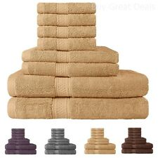 Discount Bath Towels Set On Sale Clearance Hotel Collection 8 Piece 100% Cotton