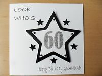 HANDMADE PERSONALISED MALE BIRTHDAY CARD, ANY AGE, NAME RELATION, 18TH, 30TH ETC