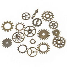 17 x Mixed Bronze Watch Parts Steampunk Cogs Gears charms pendants fr23