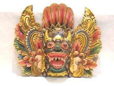 Wooden Barong Lion Mask Hand Carved Wood Bali Wall Decor Art #967