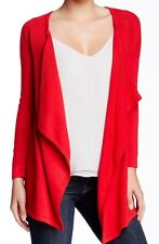 Sweet Romeo Women's Red Draped Front Knit Cardigan Sz Small $78 I929