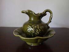 Green McCoy Small Pitcher And Bowl
