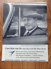 1959 Plymouth Dodge Chrysler Imperial Ad Cars Can Do