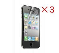 3 Pcs Anti-Glare Matte Front Screen Protector Film Cover For Apple iPhone 4 4S